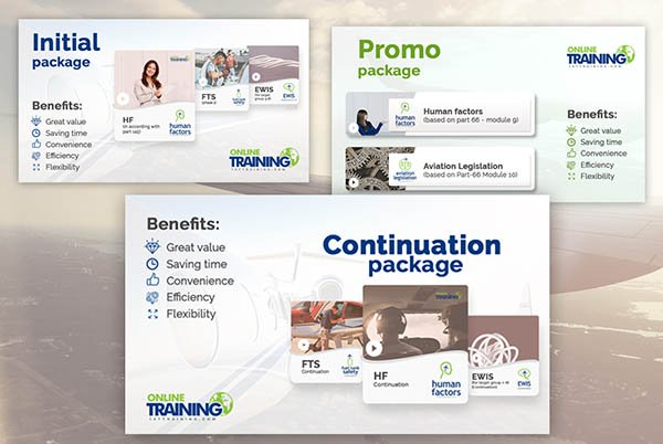 Initial, Continuation and Promo packages